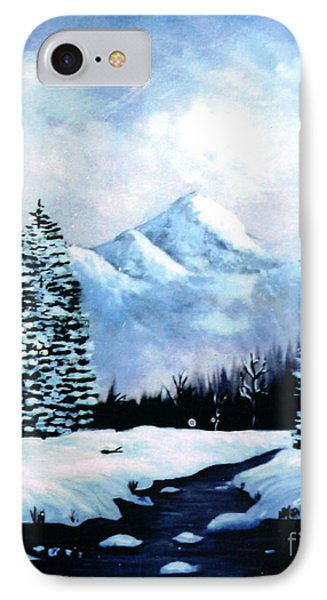 Winter Mountains Phone Case by Phyllis Kaltenbach