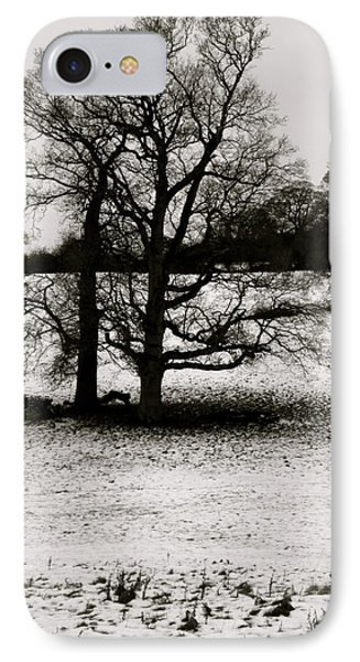 IPhone Case featuring the photograph Winter Oaks by John Colley