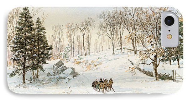 Winter On Ravensdale Road Phone Case by Jasper Francis Cropsey