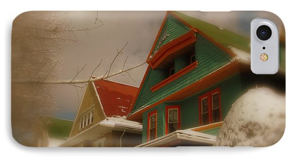 Winter On Rugby Road IPhone Case by Mark Gilman