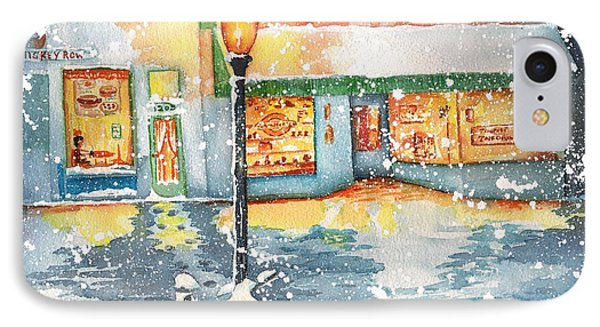 Winter On Whiskey Row Prescott Arizona Phone Case by Sharon Mick