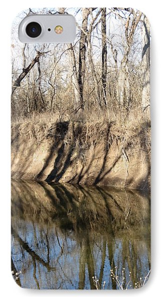 Winter River Reflections IPhone Case by Rebecca Overton