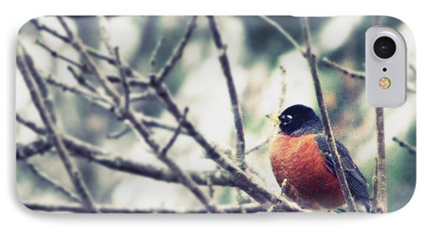 IPhone Case featuring the photograph Winter Robin by Robin Dickinson