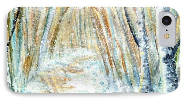IPhone Case featuring the painting Winter by Shana Rowe Jackson