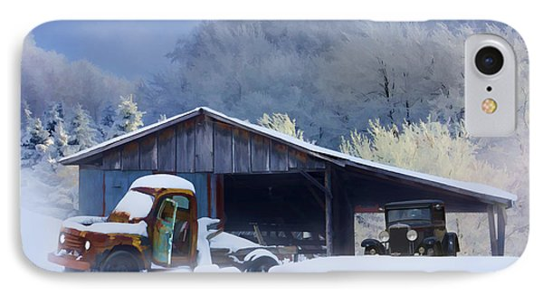 Winter Shed Phone Case by Ron Jones