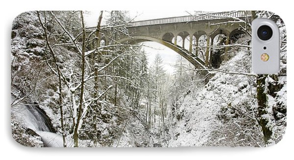 Winter, Shepperds Dell, Columbia River Phone Case by Craig Tuttle