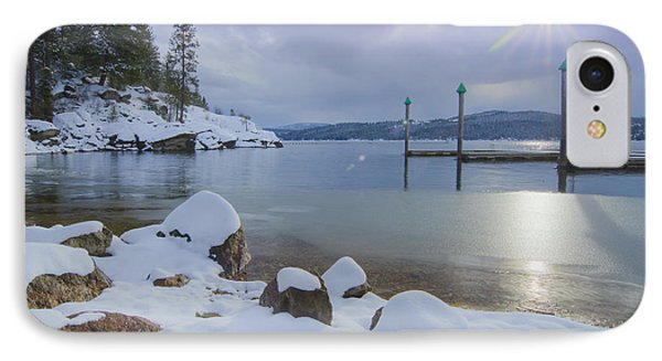 Winter Shore Phone Case by Idaho Scenic Images Linda Lantzy