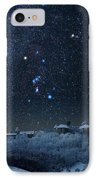 Winter Sky With Orion Constellation Phone Case by Eckhard Slawik