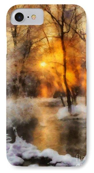 Winter Sunset IPhone Case by Elizabeth Coats