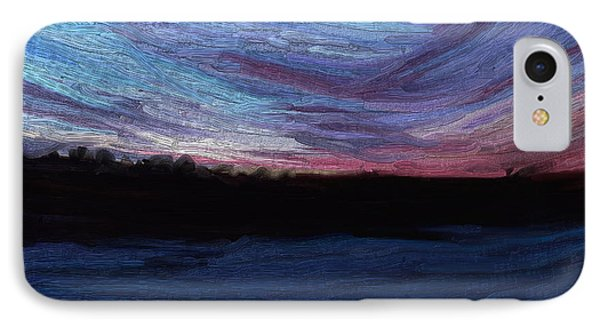 IPhone Case featuring the digital art Winter Sunset by Lauren Radke