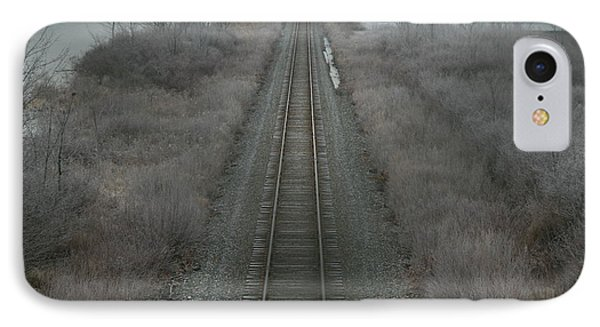 Winter Tracks  IPhone Case by Neal Eslinger