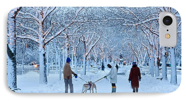 IPhone Case featuring the photograph Winter Twilight Walk by Susan Cole Kelly