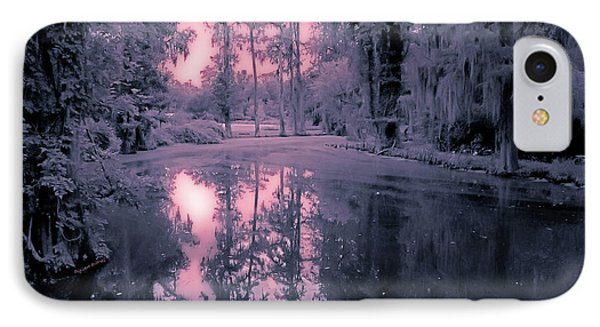 Winterland In The Swamp Phone Case by DigiArt Diaries by Vicky B Fuller