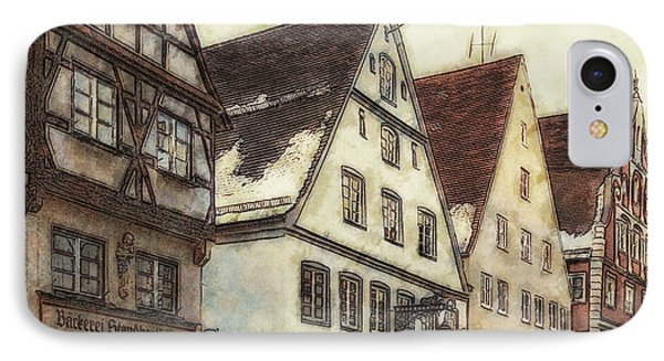 Winterly Old Town Phone Case by Jutta Maria Pusl
