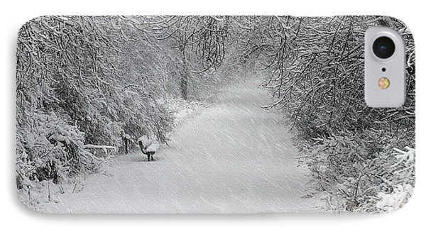 IPhone Case featuring the photograph Winter's Trail by Elizabeth Winter