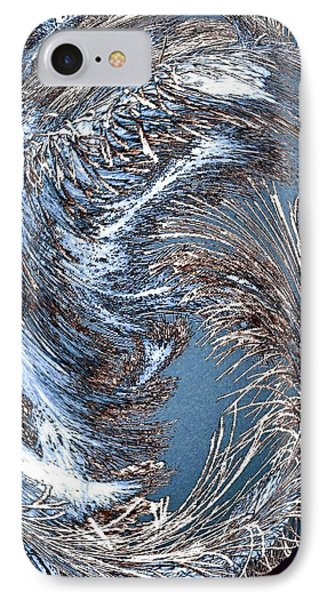 Wintry Pine Needles Phone Case by Will Borden