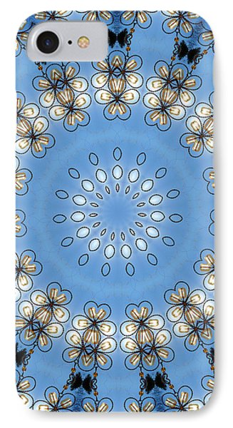 Wire Flowers And Butterflies Phone Case by Kristie  Bonnewell