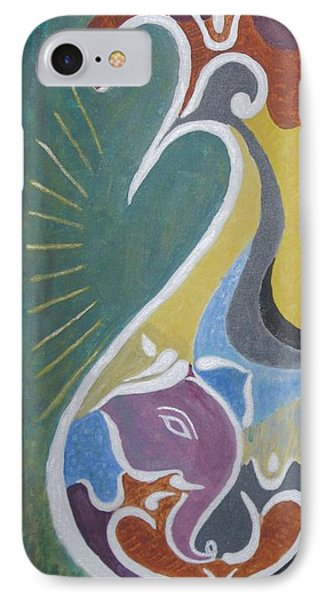 IPhone Case featuring the painting Wisdom And Peace by Sonali Gangane