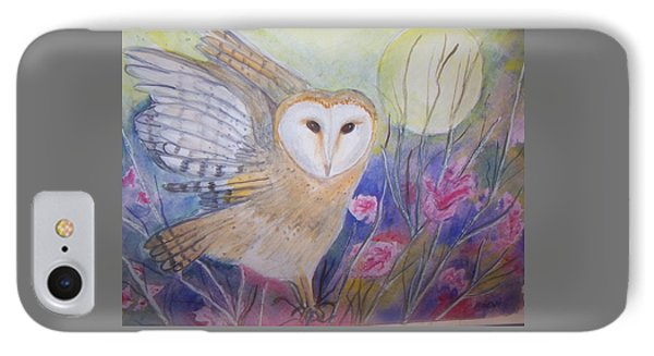 Wise Moon IPhone Case by Belinda Lawson