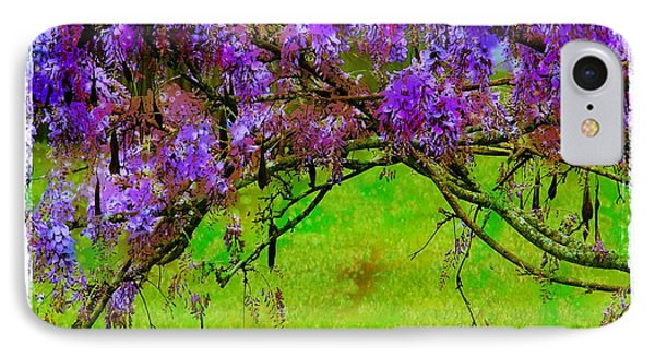 Wisteria Bower IPhone Case by Judi Bagwell
