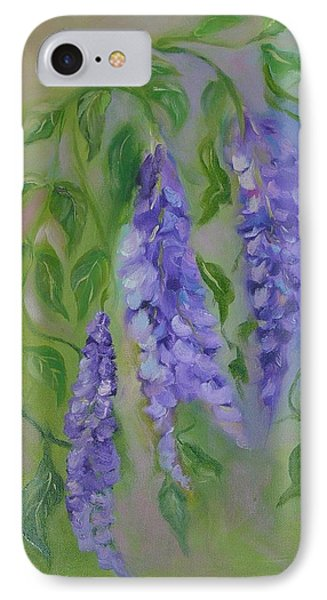 IPhone Case featuring the painting Wisteria by Carol Berning