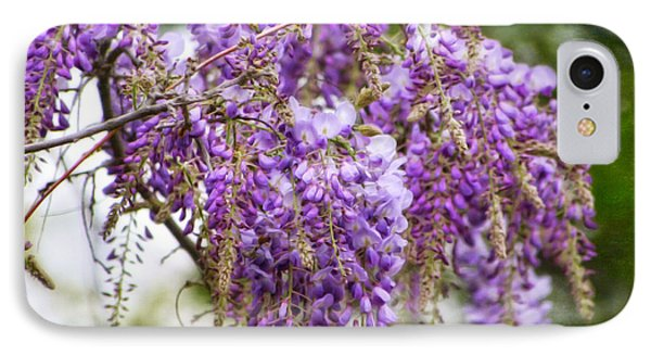 IPhone Case featuring the photograph Wisteria by Joan Bertucci