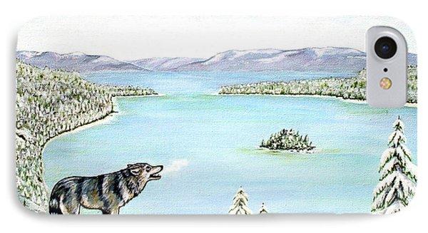 Wolf At Lake Tahoe Phone Case by Jerome Stumphauzer