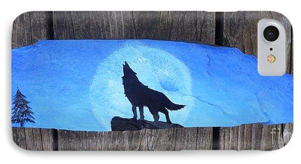 Wolf Howl1 Phone Case by Monika Shepherdson