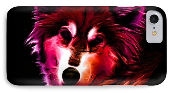 Wolf - Red IPhone Case by James Ahn