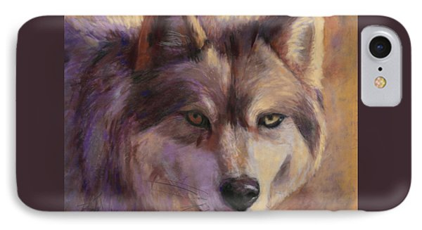 Wolf Study IPhone Case by Billie Colson