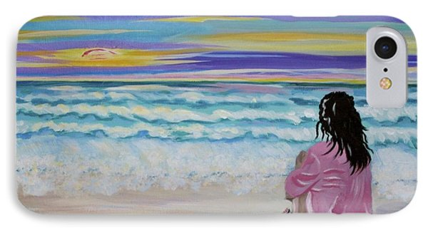 Woman By The Sea Phone Case by Phyllis Kaltenbach