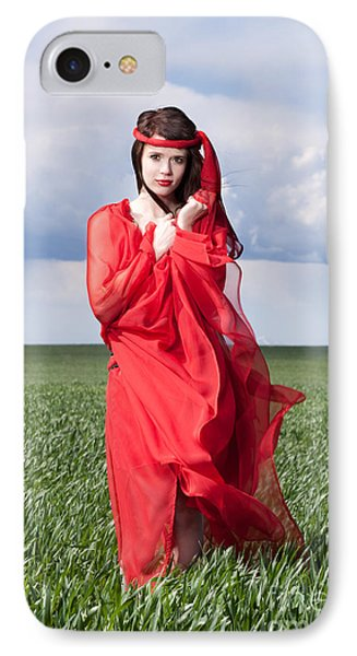 Woman In Red Series Phone Case by Cindy Singleton