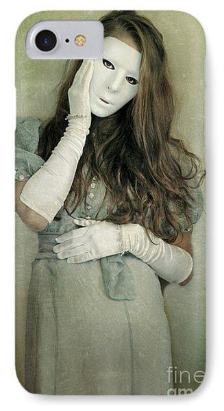Woman In White Mask Wearing 1930s Dress Phone Case by Jill Battaglia