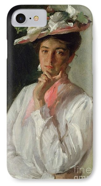 Woman In White Phone Case by William Merritt Chase