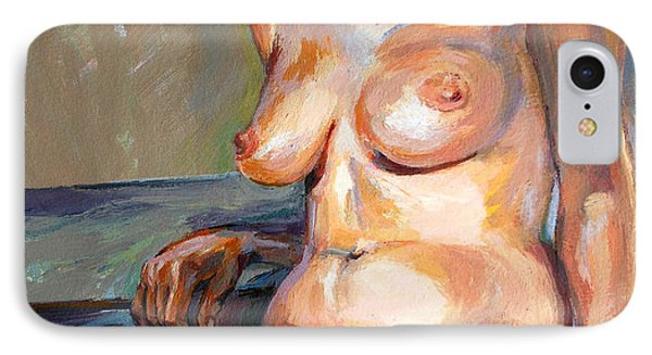 Woman Nude IPhone Case by Stan Esson