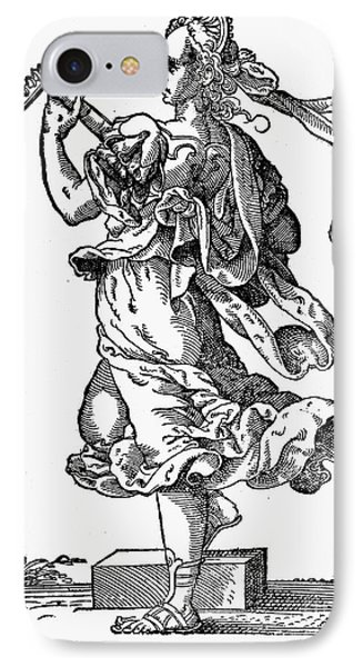 Woman Playing The Lute Phone Case by Granger
