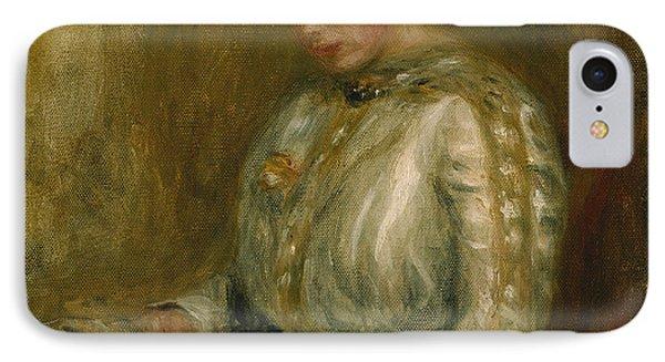 Woman Reading  Phone Case by Pierre Auguste Renoir