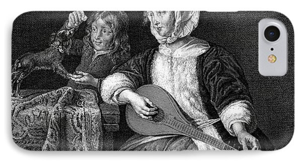 Woman Tuning A Lute Phone Case by Granger