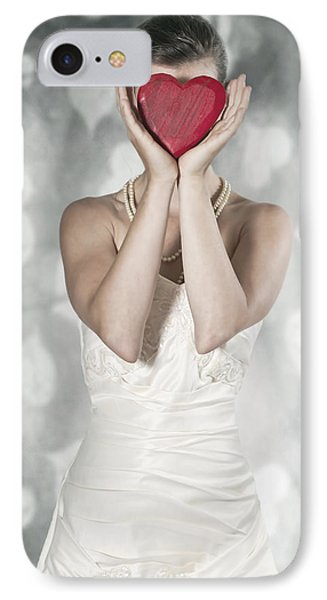 Woman With Heart Phone Case by Joana Kruse