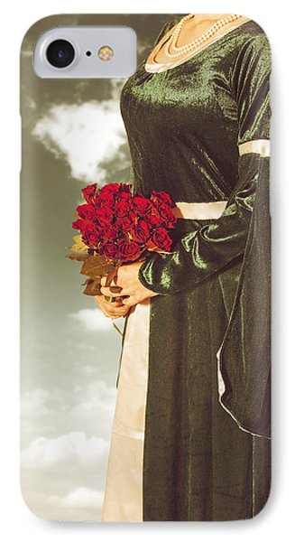 Woman With Roses Phone Case by Joana Kruse