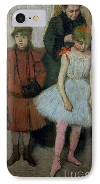 Woman With Two Little Girls Phone Case by Edgar Degas