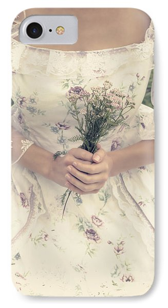 Woman With Wild Flowers Phone Case by Joana Kruse