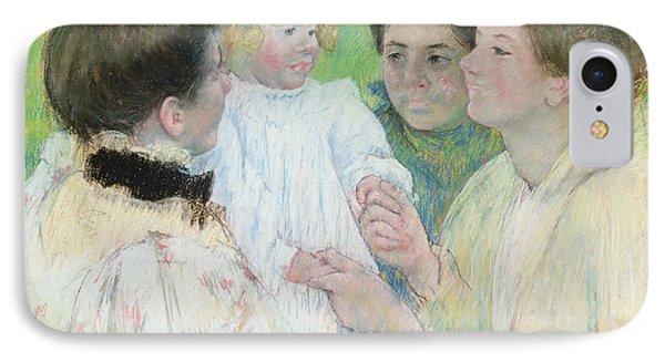 Women Admiring A Child Phone Case by Mary Stevenson Cassatt