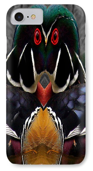 Wood Owl Phone Case by Jean Noren