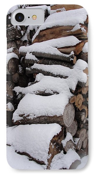 IPhone Case featuring the photograph Wood Pile by Tiffany Erdman