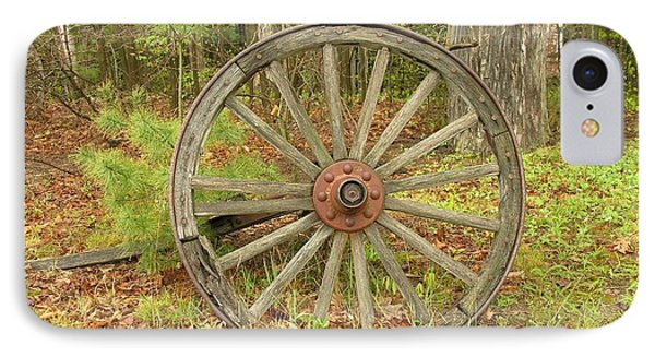 IPhone Case featuring the photograph Wood Spoked Wheel by Sherman Perry
