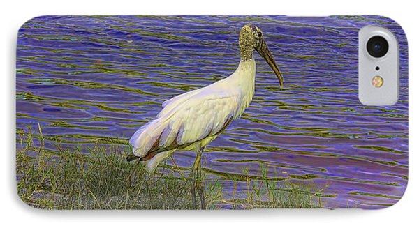Wood Stork By The Pond Phone Case by Deborah Benoit