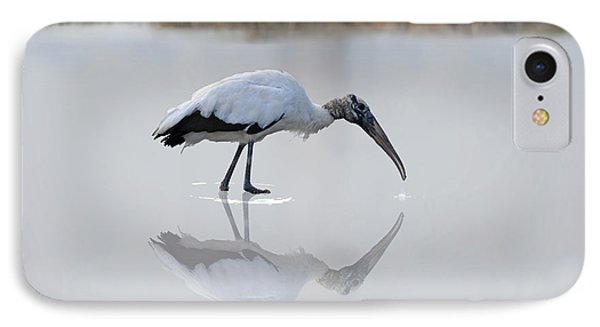 IPhone Case featuring the photograph Wood Stork Eating by Dan Friend