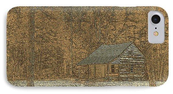 Woodcut Cabin Phone Case by Jim Finch