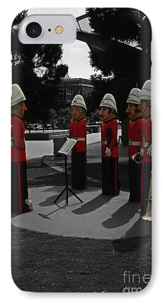 IPhone Case featuring the photograph Wooden Bandsmen by Blair Stuart
